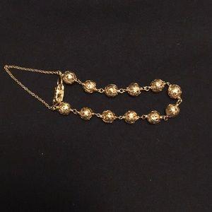 Ming's Gold ball bracelet